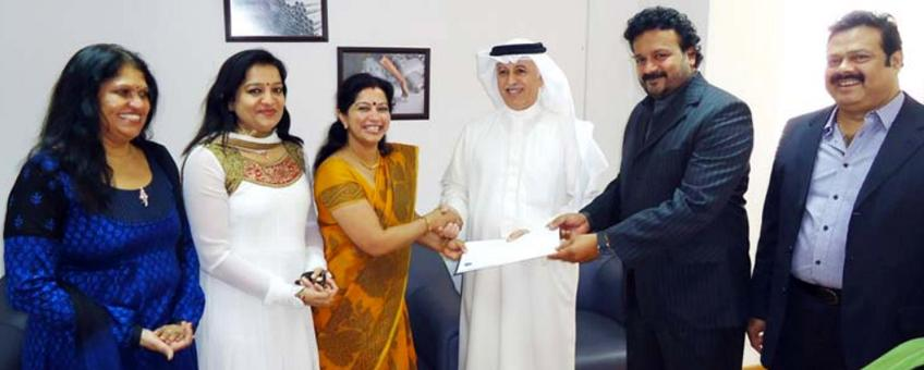 Steelmark Mideast handover donation to Sneha centre for children with special needs